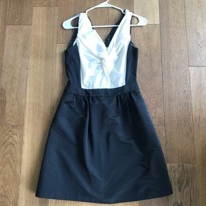Classic black and white dress by Reiss!